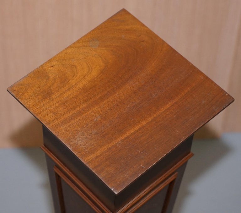 Regency Style Walnut circa 1900 Pedestal Jardiniere Stand for Busts Statues Etc For Sale 2
