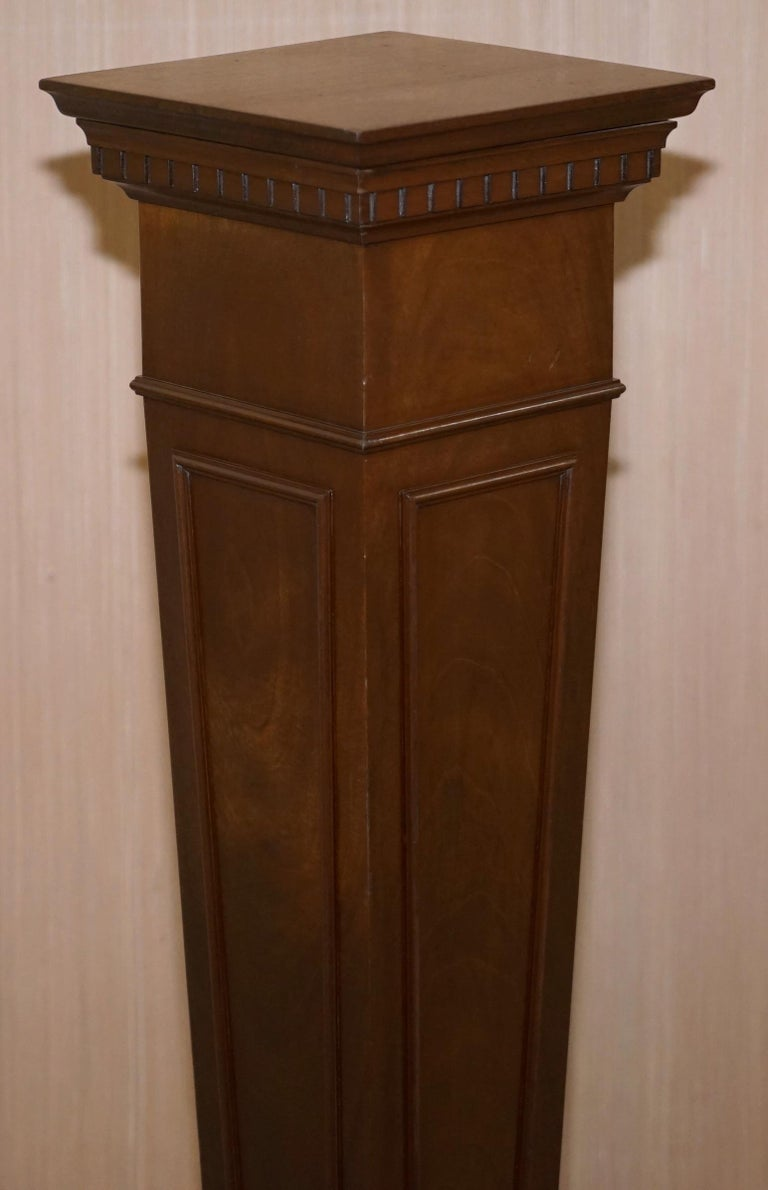 Regency Style Walnut circa 1900 Pedestal Jardiniere Stand for Busts Statues Etc For Sale 3