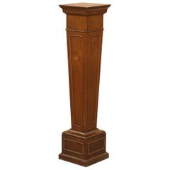 Regency Style Walnut circa 1900 Pedestal Jardiniere Stand for Busts Statues Etc