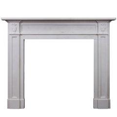 Regency Style White Marble Fireplace
