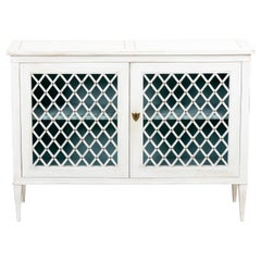 Regency Style White Painted Cabinet