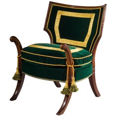 Regency Thomas Hope Greek Revival Klismos Library Chair