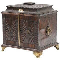 Regency Tooled Leather Desktop Secretaire Cabinet