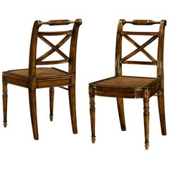 Regency Walnut Dining Chairs