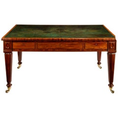 Regency Well-Figured Mahogany Writing Table