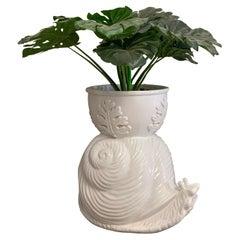 Regency White Planter Snail, 1960s Very Good Condition, Very Rare
