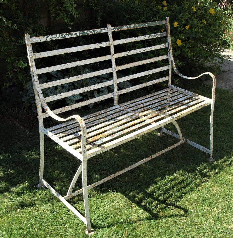 Regency Wrought Iron Garden Seat For Sale At 1stdibs