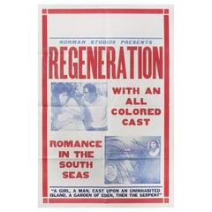 'Regeneration' 1923 U.S. One Sheet Film Poster