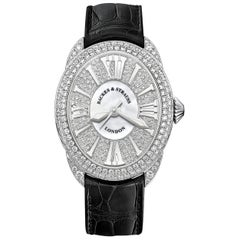 Regent 3643 Luxury Diamond Watch for Women, 18 Karat White Gold