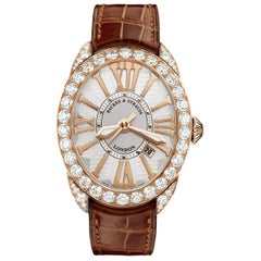 Regent 4047 Luxury Diamond Watch for Men and Women, Rose Gold