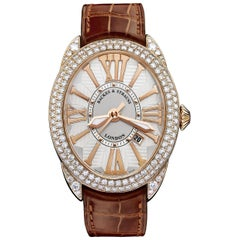 Regent 4452 Luxury Diamond Watch for Men and Women, Rose Gold