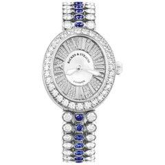 Regent Duchess Blue Velvet 2833 Luxury Diamond Watch for Women