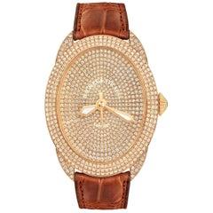 Regent Monarch 4047 Luxury Diamond Watch for Women, Rose Gold