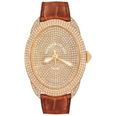 Regent Monarch 4452 Luxury Diamond Watch for Men's and Women, Rose Gold