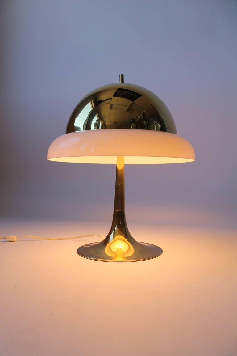 Italian Reggiani Brass and Perspex Table Lamp Mid-Century, 1960s, Italy For Sale