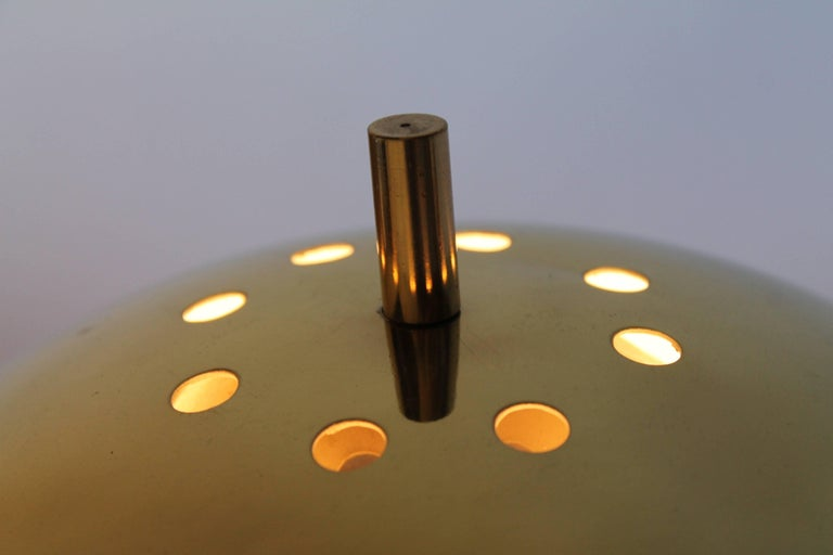 Mid-20th Century Reggiani Brass and Perspex Table Lamp Mid-Century, 1960s, Italy For Sale