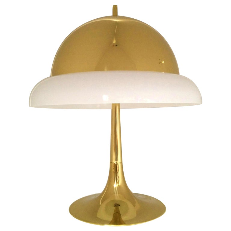 Reggiani Brass and Perspex Table Lamp Mid-Century, 1960s, Italy For Sale