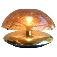 "Reggiani ""Medusa"" Table Lamp Brass Perspex, 1970, Italy"