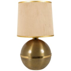 Reggiani, Table Lamp Italian Metal and Brass, Italy 1970s