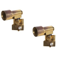 Reggiani Wall Lamps in Brass, Made in Italy, 1970s