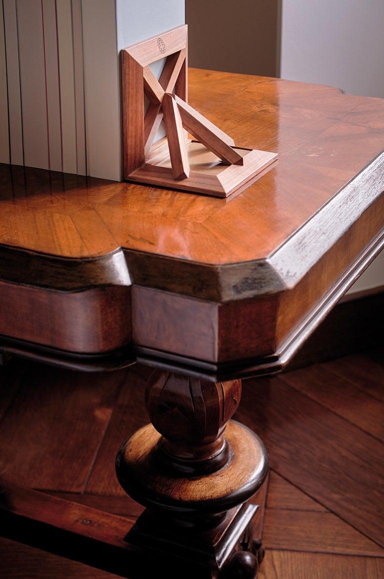 Italian Reggilibri Wooden Bookends by Bottega Ghianda For Sale