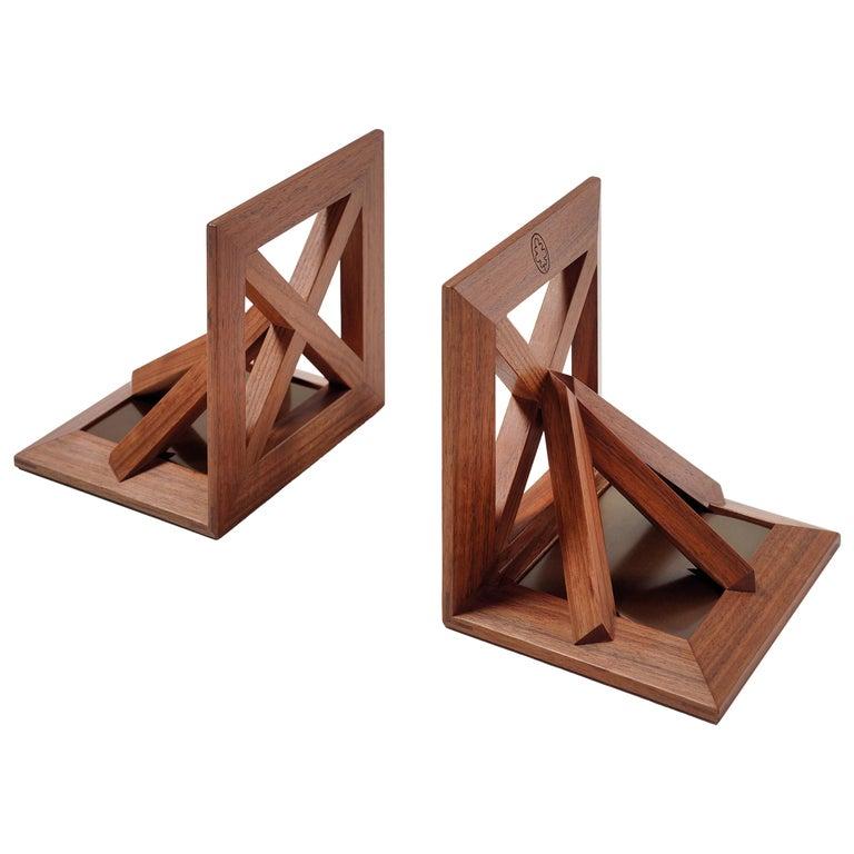 Reggilibri Wooden Bookends by Bottega Ghianda For Sale
