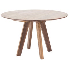 """Regia II"" Contemporary Round Table, Wood"