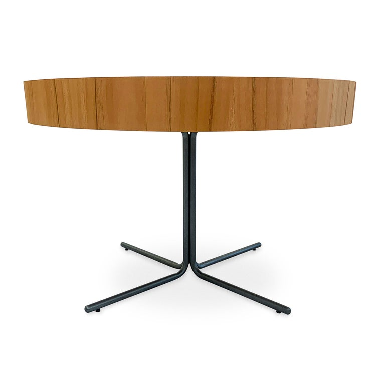 Regia Occasional Table in Teak featuring Nero Glass For Sale 2
