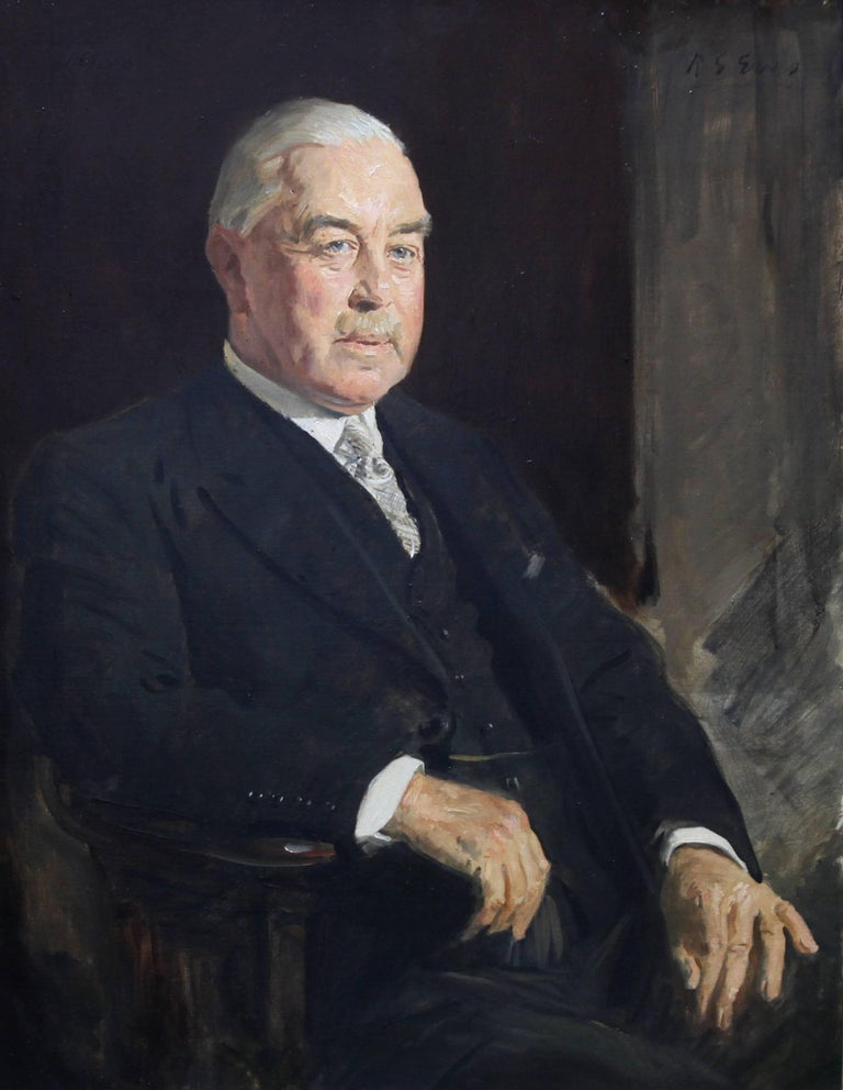Portrait of a Gentleman - British 30's art Slade School artist oil painting   2