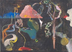 """A Bright Sunny Night,"" Oil Pastel on Board signed on Verso by Reginald K. Gee"