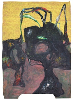 """Hollowsphere,"" Oil Pastel signed on Verso by Reginald K. Gee"