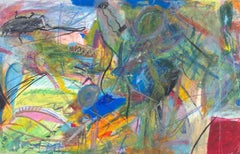 """No More Electric Toothbrushes,"" Oil Pastel signed on Verso by Reginald K. Gee"