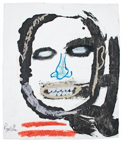 """""""Double Tone Accent,"""" Acrylic on Grocery Bag signed by Reginald K. Gee"""
