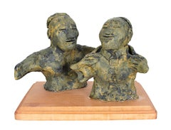 """Epoxy Glued Ming Dynasty,"" Original Clay Sculpture signed by Reginald K. Gee"