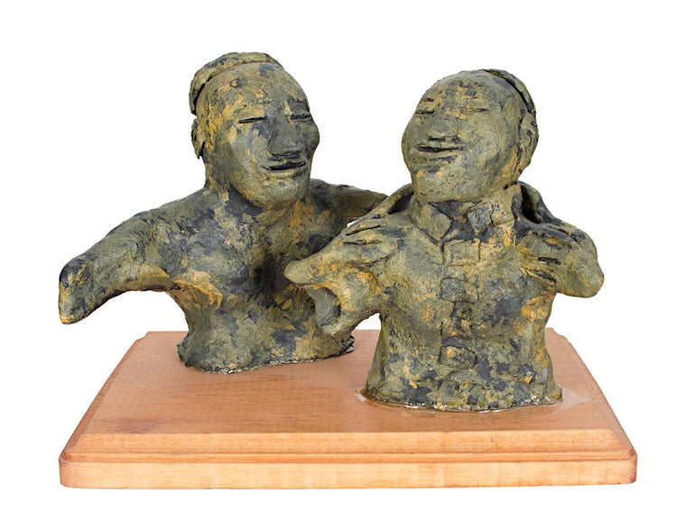 Epoxy Clay Sculptures : Donald odysseus mavros head of a man sculpture for sale