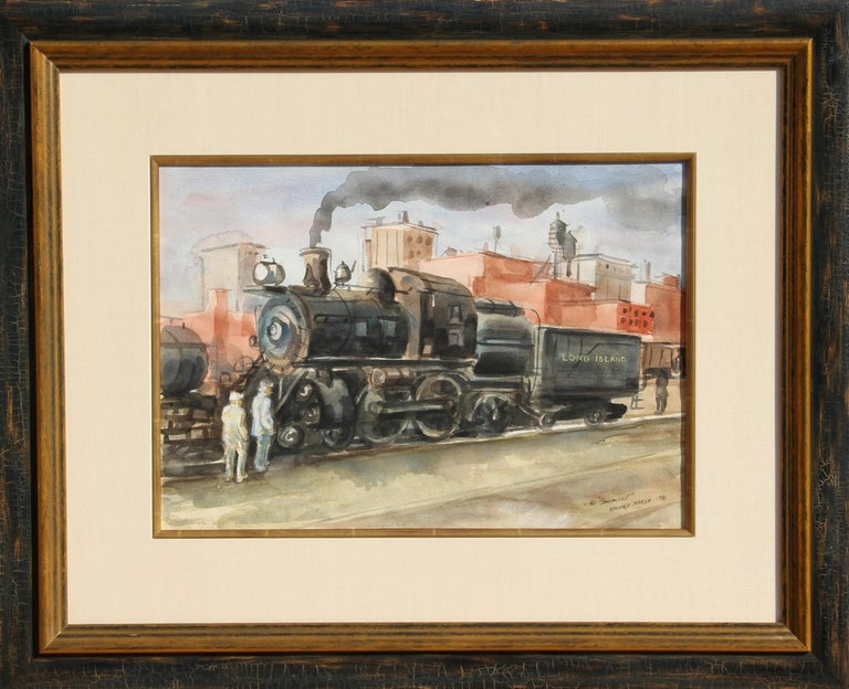"""Artist: Reginald Marsh, American (1898 - 1954) Title: The """"Cannonball"""" Year: 1936 Medium: Watercolor on Paper, signed, titled, and dated l.r. Size: 16.5 in. x 22.5 in. (41.91 cm x 57.15 cm) Frame Size: 26 x 32 inches"""