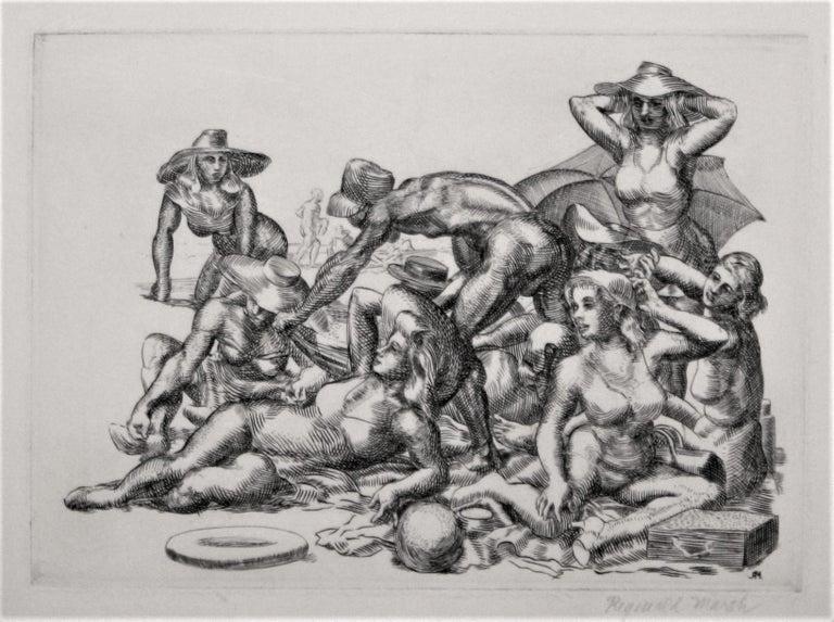 Beach Picnic. - Print by Reginald Marsh