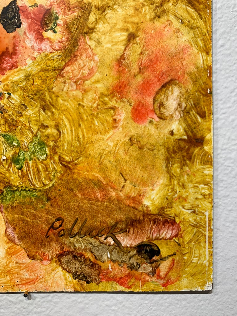 Entrance to the Yellow Garden, Reginald Pollack Abstract Oil on Masonite For Sale 4