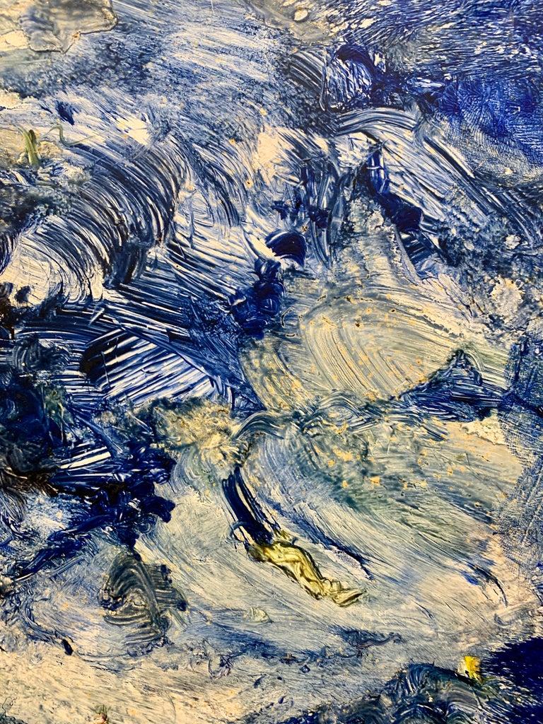 God Creates the Sea, Reginald Pollack Abstract Expressionist Oil Masonite 1970 For Sale 2