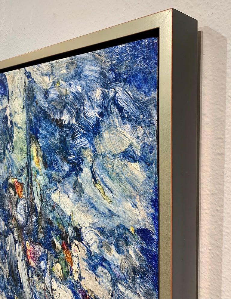 God Creates the Sea, Reginald Pollack Abstract Expressionist Oil Masonite 1970 5