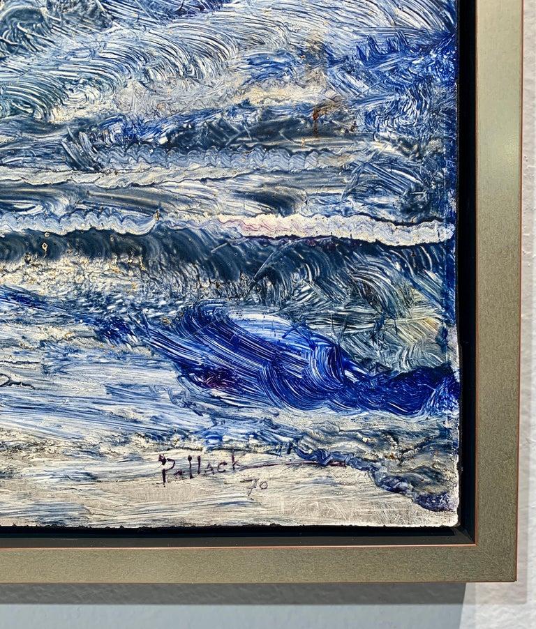 God Creates the Sea, Reginald Pollack Abstract Expressionist Oil Masonite 1970 6