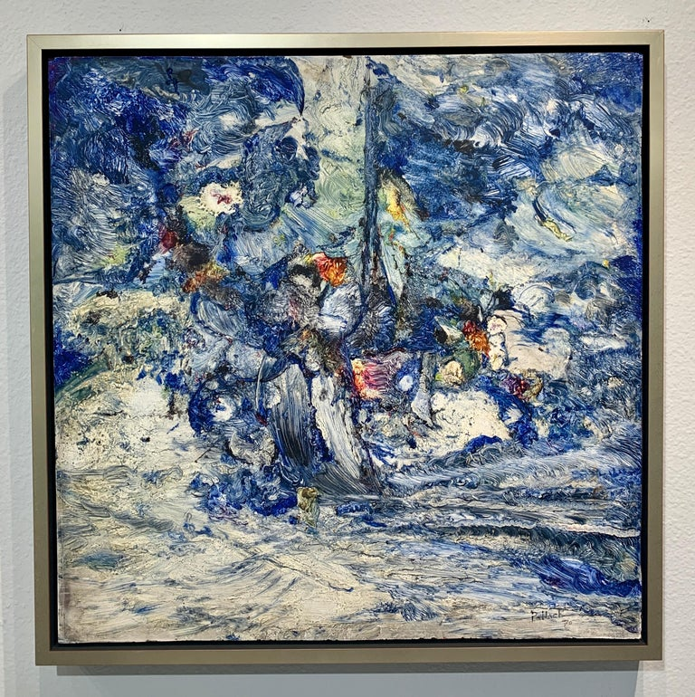 God Creates the Sea, Reginald Pollack Abstract Expressionist Oil Masonite 1970 - Painting by Reginald Pollack