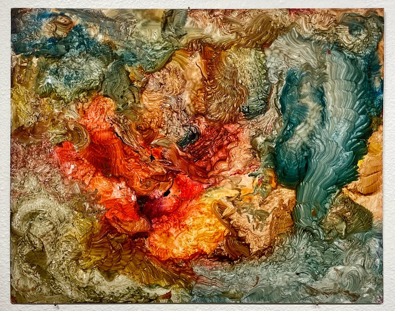 Red Sanctum, Reginald Pollack Abstract Oil on Masonite - Abstract Expressionist Painting by Reginald Pollack