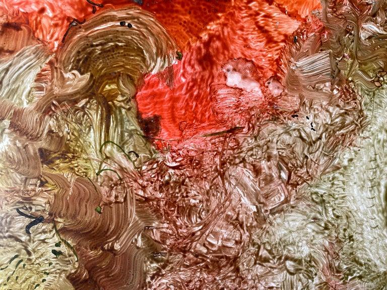 Red Sanctum, Reginald Pollack Abstract Oil on Masonite For Sale 1