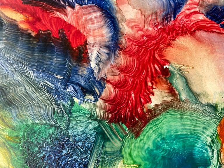 Spirit of Baroque, Reginald Pollack Abstract Oil on Masonite Multicolor Music For Sale 1