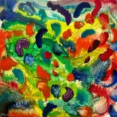 Spirit of Baroque, Reginald Pollack Abstract Oil on Masonite Multicolor Music