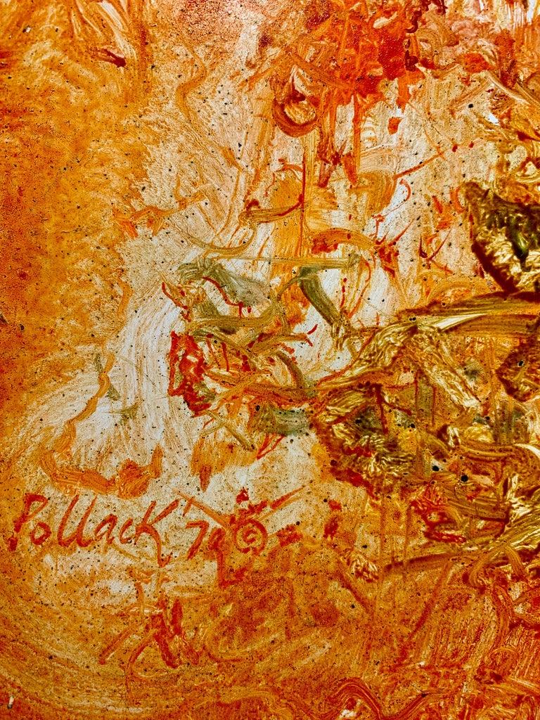 The Invention of Orange!, Reginald Pollack Abstract Oil on Masonite 2