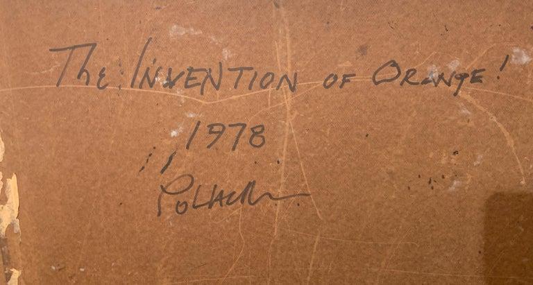 The Invention of Orange!, Reginald Pollack Abstract Oil on Masonite 3