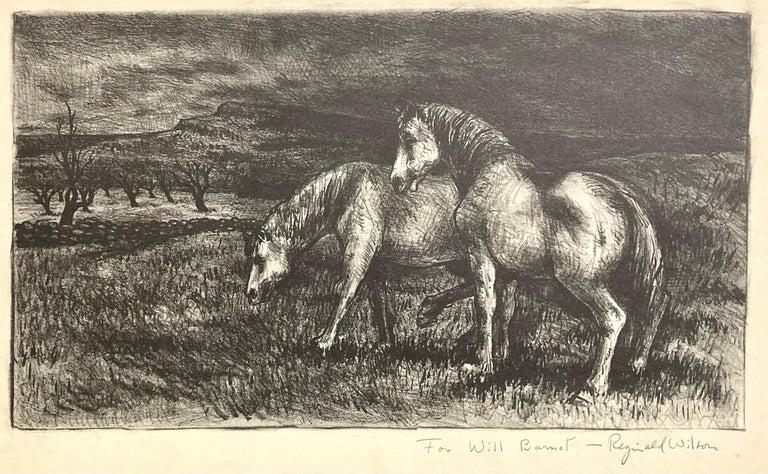 Horses - Print by Reginald Wilson