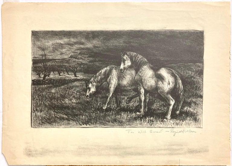 Horses - American Modern Print by Reginald Wilson